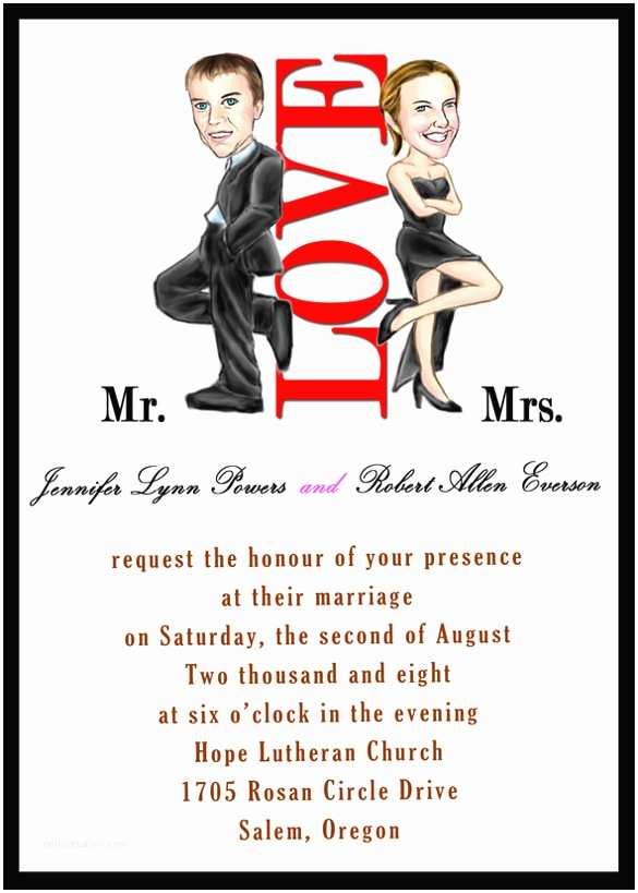 Mr and Mrs Smith Wedding Invitations 20 Funny Wedding Invitation Templates – Free Sample
