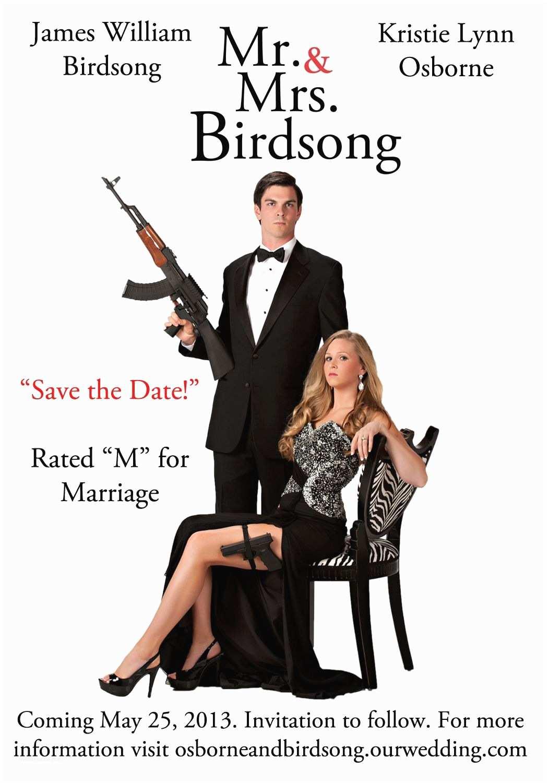 Mr  Mrs Smith Wedding Invitations Engagement Photo Wedding Invitations Inspired By Mr