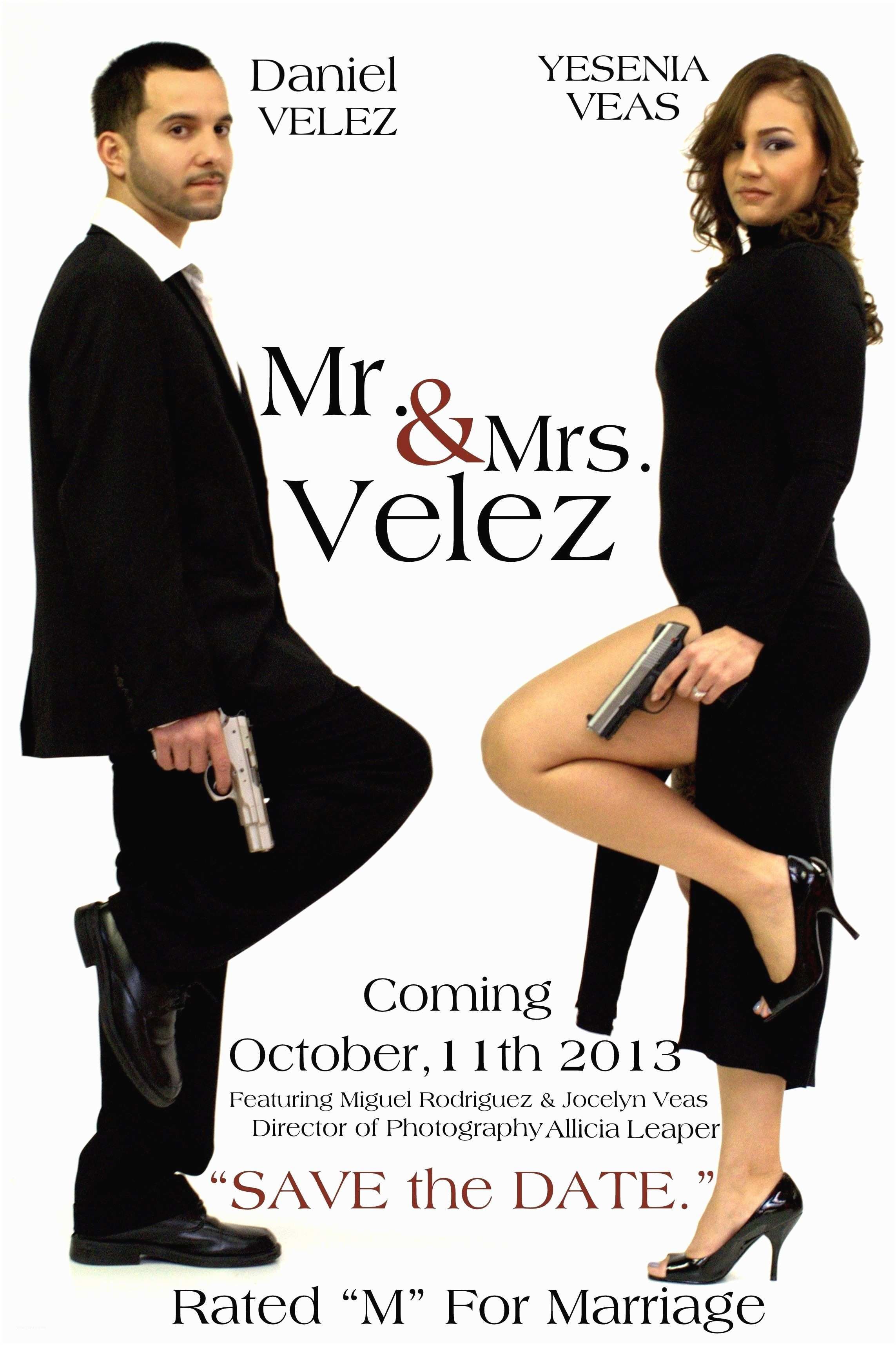 Mr and Mrs Smith Wedding Invitations Mr and Mrs Smith Save the Date Wedding Funny Check Out