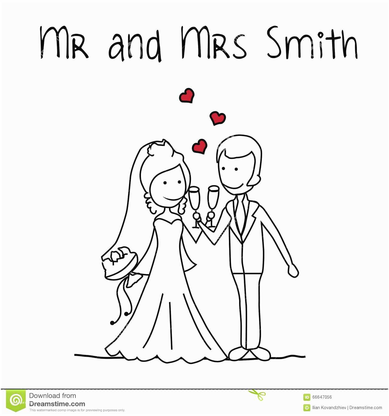Mr And Mrs Smith Wedding Invitations Mr And Mrs Smith Stock Vector
