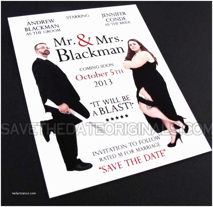 Mr And Mrs Smith Wedding Invitations Save The  Originals Mr & Mrs Movie Save The