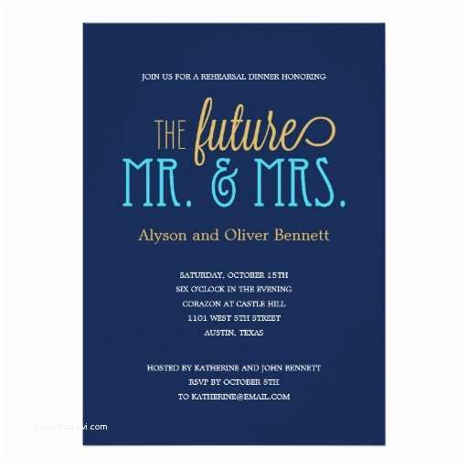 Mr and Mrs Wedding Invitations Future Mr and Mrs Rehearsal Dinner Wedding Shower 5x7