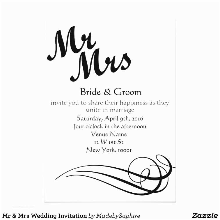 Mr and Mrs Wedding Invitations Mr & Mrs Wedding Invitation