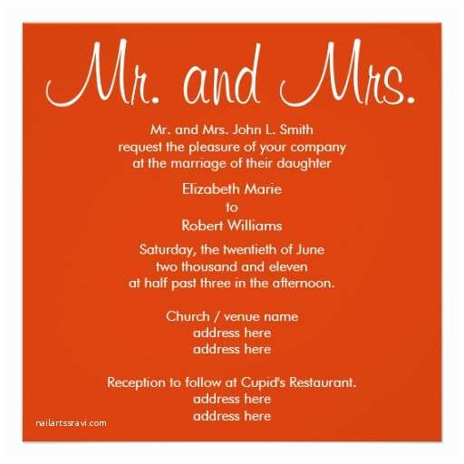 "Mr and Mrs Wedding Invitations Mr and Mrs Autumn Wedding Invitation 5 25"" Square"