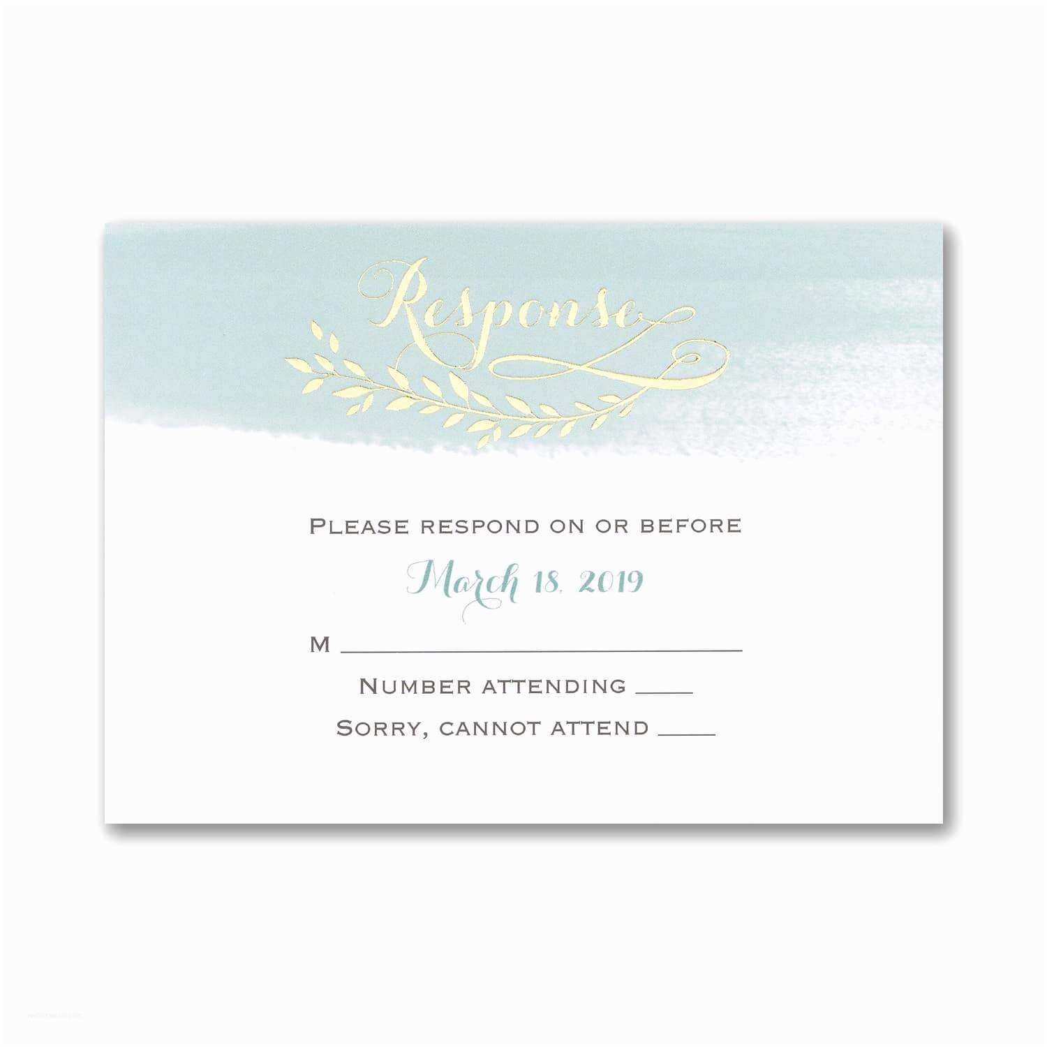 Mr and Mrs Wedding Invitations Mr and Mrs Watercolor Wedding Invitations