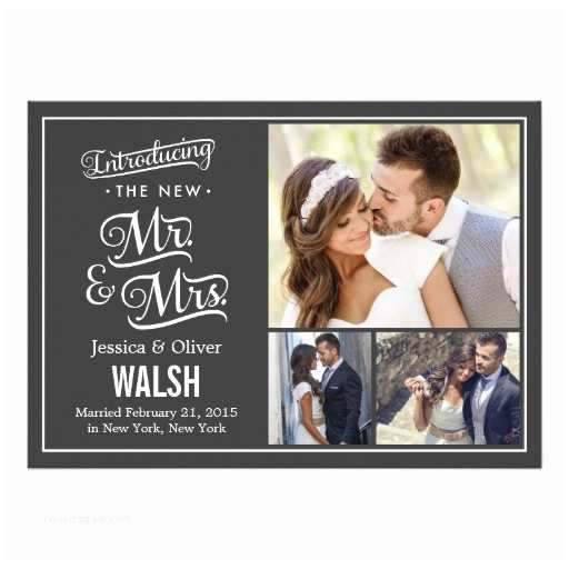 """Mr And Mrs Wedding Invitations New Mr And Mrs Wedding Announcement Charcoal 5"""" X"""