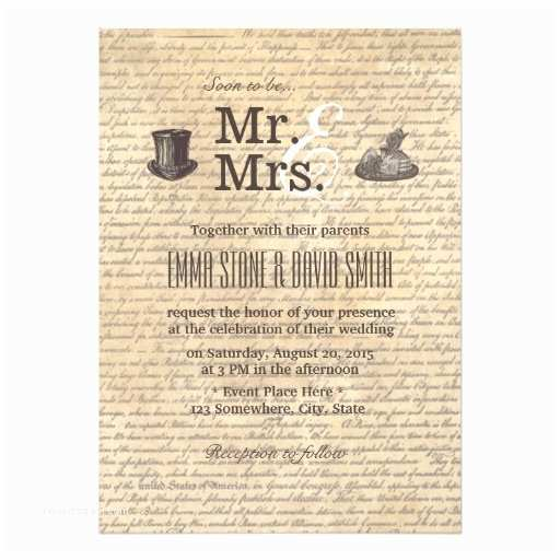 Mr and Mrs Wedding Invitations Personalized Mr and Mrs Wedding Invitations
