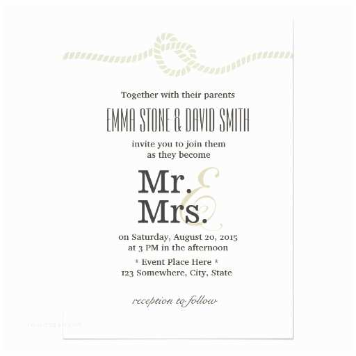 Mr and Mrs Wedding Invitations Personalized Mrs Invitations