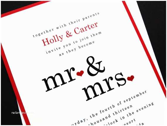 Mr and Mrs Wedding Invitations Unavailable Listing On Etsy