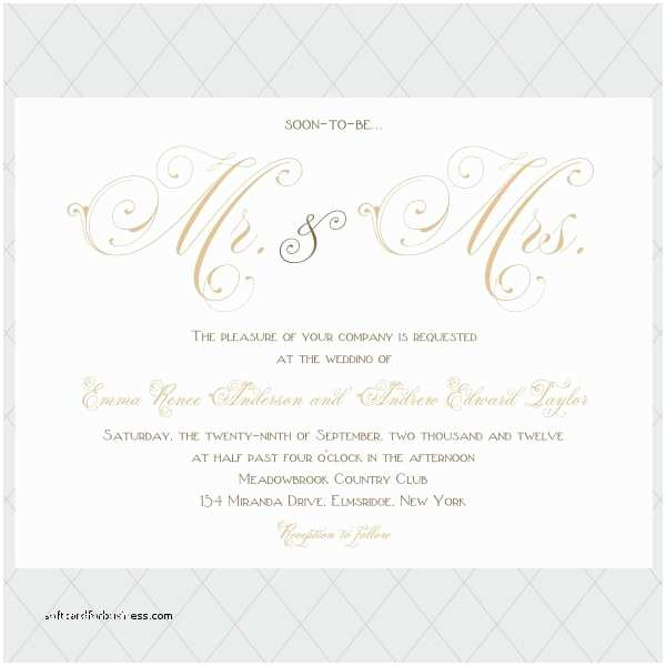 Mr and Mrs Wedding Invitations Wedding Invitation Best Mr and Mrs Wedding Invitations