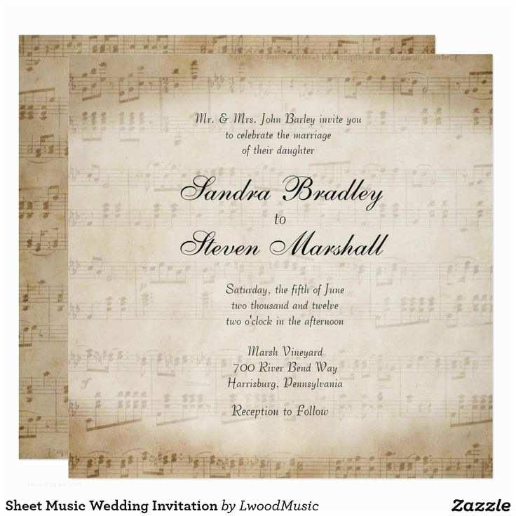 Music themed Wedding Invitations 17 Best Ideas About Music Wedding Invitations On Pinterest