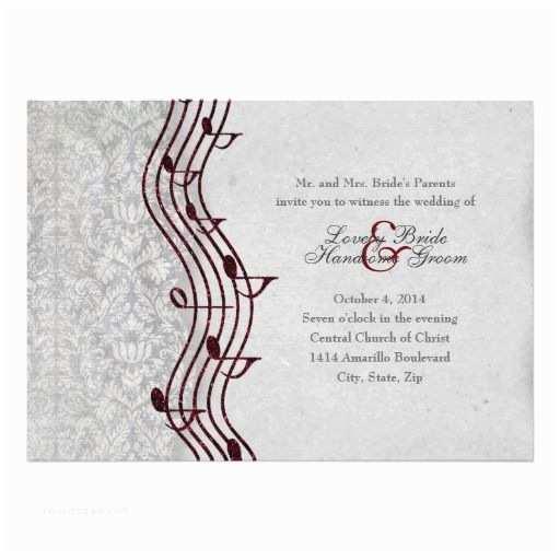Music themed Wedding Invitations 21 Best Music themed Wedding Invitations Images On