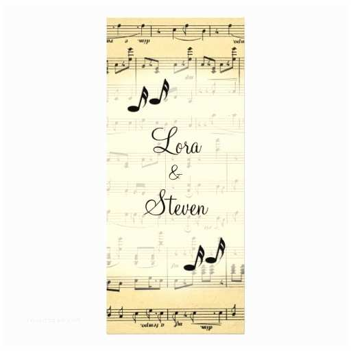 Music themed Wedding Invitations Antique Sheet Music theme Wedding Invitation