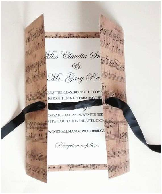 Music Themed Wedding Invitations Vintage Music Theme Wedding