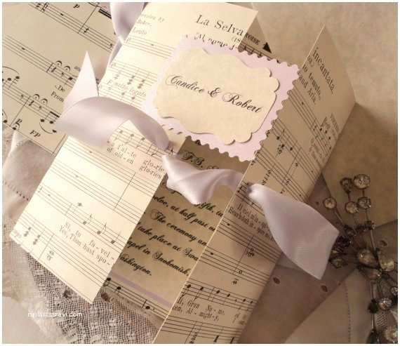Music themed Wedding Invitations Music Inspiration for A Classic Sheet Music Wedding