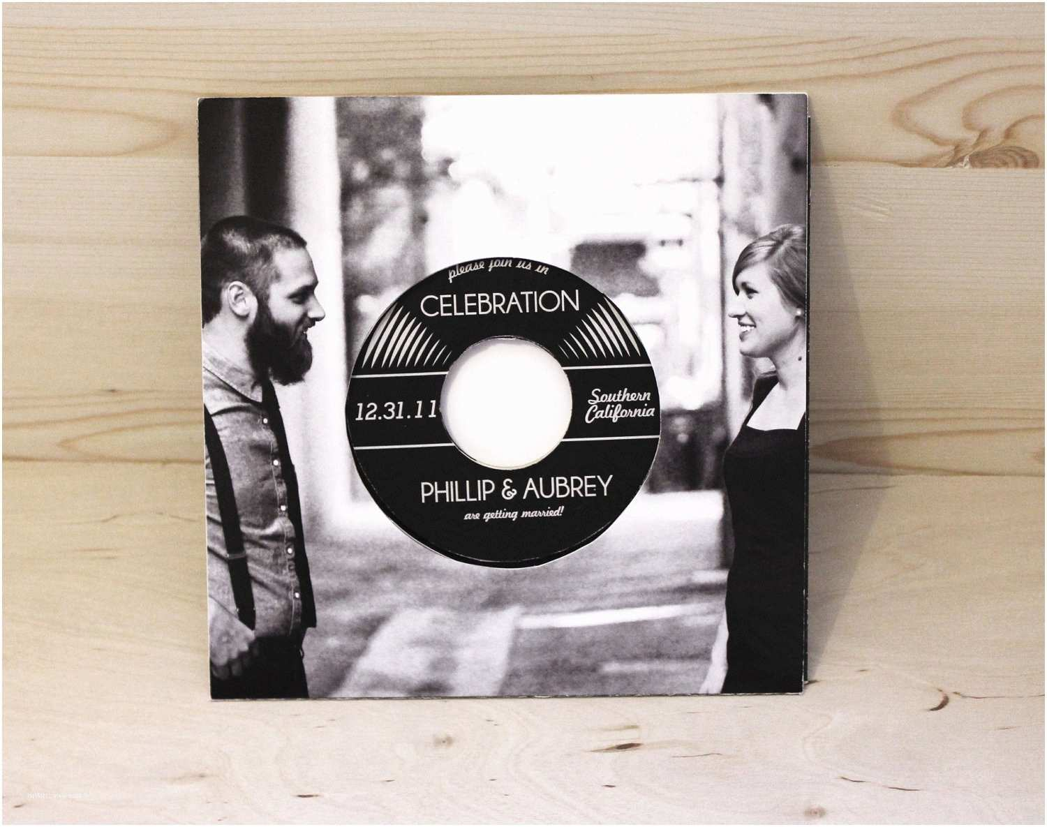 Music themed Wedding Invitations Music Lovers Vinyl Record Wedding Invitation Authentic Vinyl