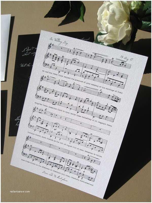 Music themed Wedding Invitations Music theme Wedding Invitations