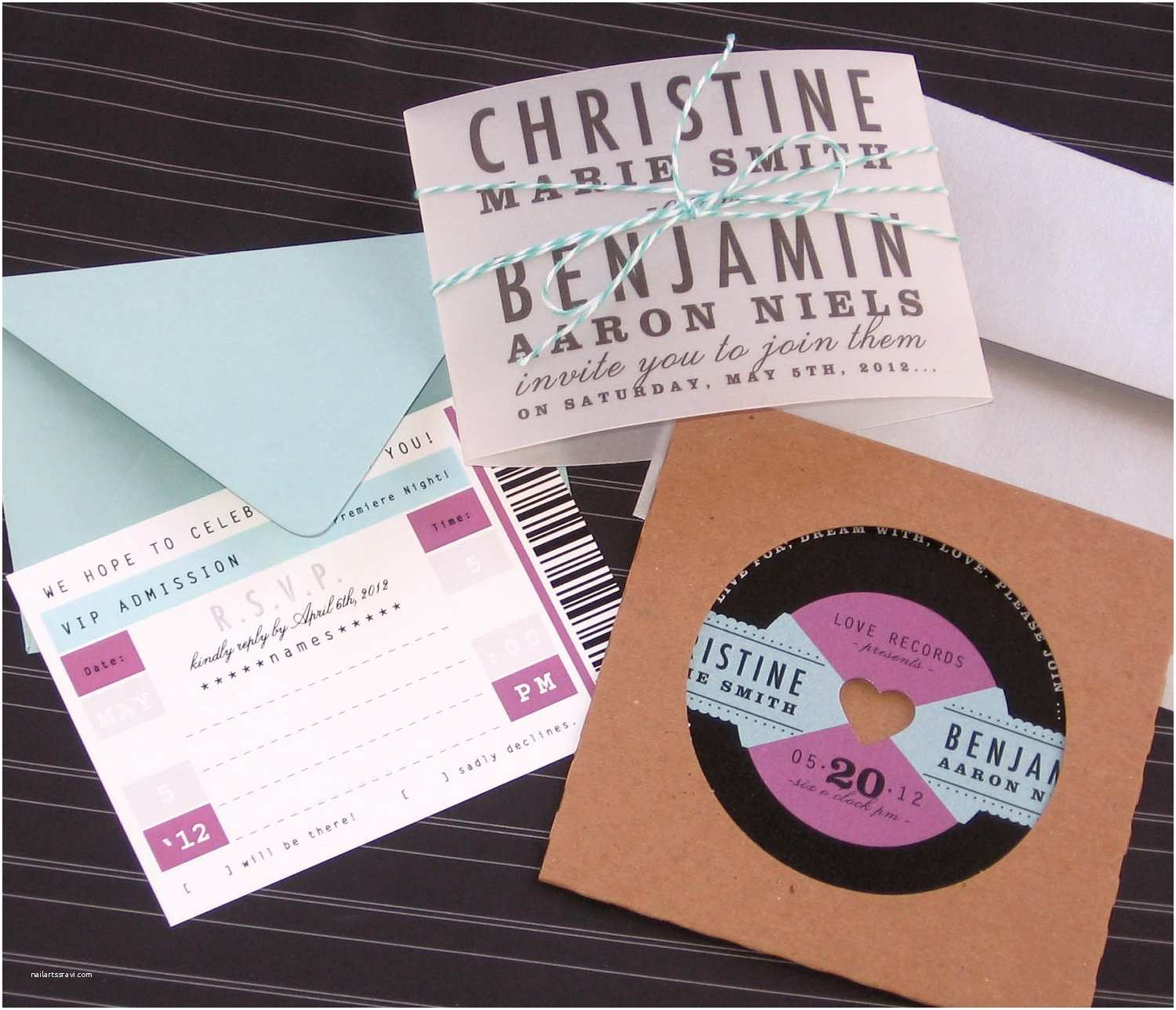 Music themed Wedding Invitations Music themed Wedding Accessories Ceremony Reception Decor