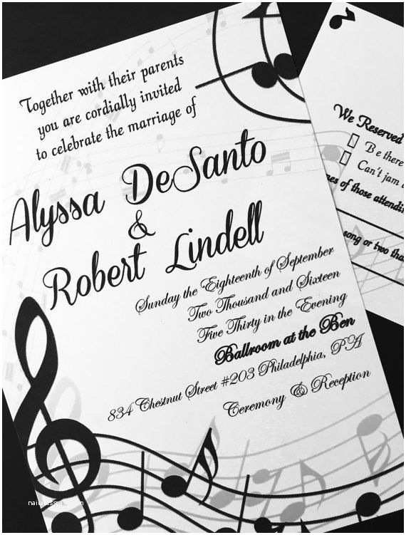 Music themed Wedding Invitations Music themed Wedding Invitations by beforetherings On Etsy