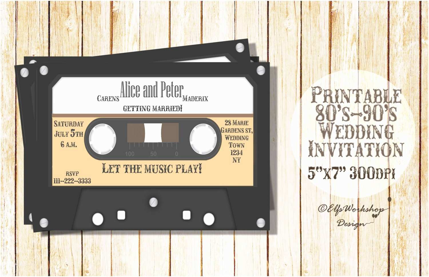 Music themed Wedding Invitations Music themed Wedding Invitations Elegant Wedding