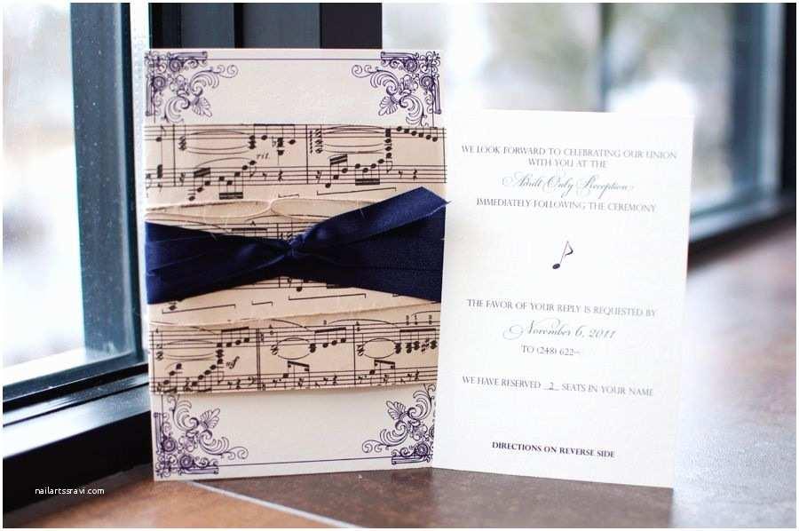 Music themed Wedding Invitations Music Wedding Invitations
