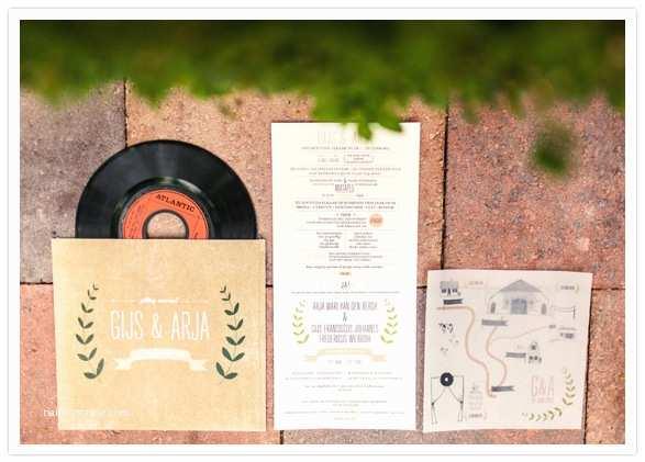 Music themed Wedding Invitations Netherlands Countryside Wedding Arja Gijs