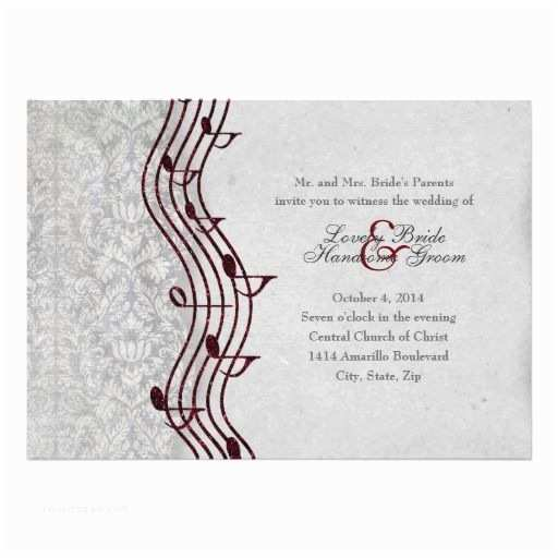 Music Wedding Invitations 21 Best Music themed Wedding Invitations Images On