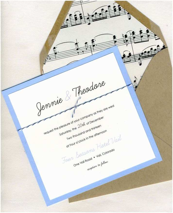 Music Wedding Invitations 25 Handmade Wedding Treasures that Hit All the Right Notes
