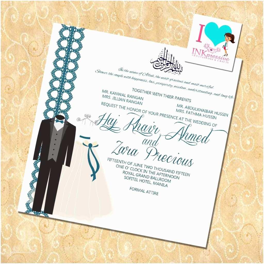 Muslim Wedding Invitation Templates islamic Wedding Urdu Invitation Cards Various Invitation