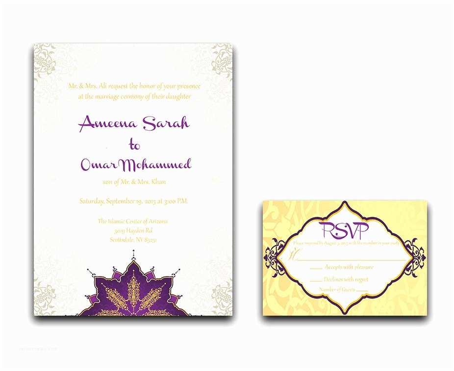 Muslim Wedding Invitations Nikah Wedding Invitation Muslim Wedding Invitation Nikkah