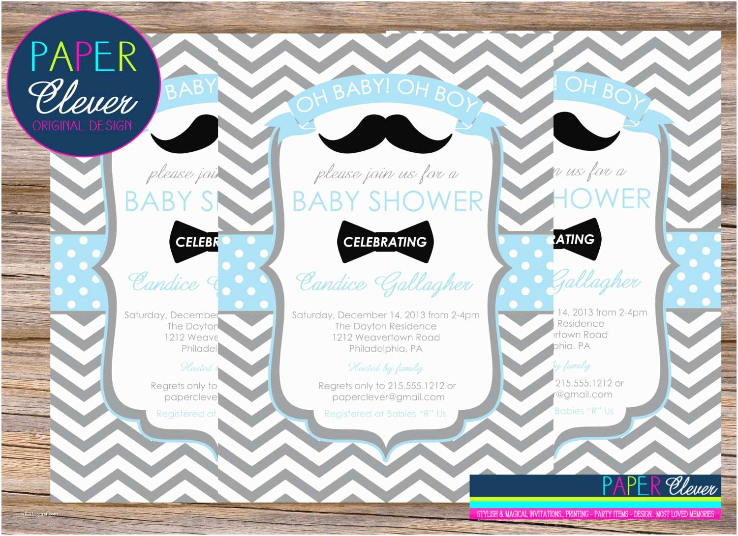 Mustache And Bow Tie Baby Shower Invitations 301 Moved