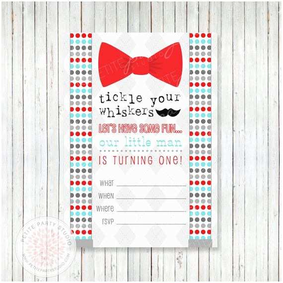 Mustache And Bow Tie Baby Shower Invitations Instant Download Little Man Mustache Bow Tie