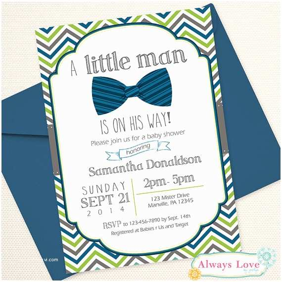 Mustache And Bow Tie Baby Shower Invitations Items Similar To Little Man Bow Tie Mustache