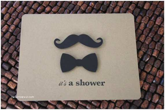 Mustache And Bow Tie Baby  Invitations Items Similar To Mustache And Bow Tie Baby