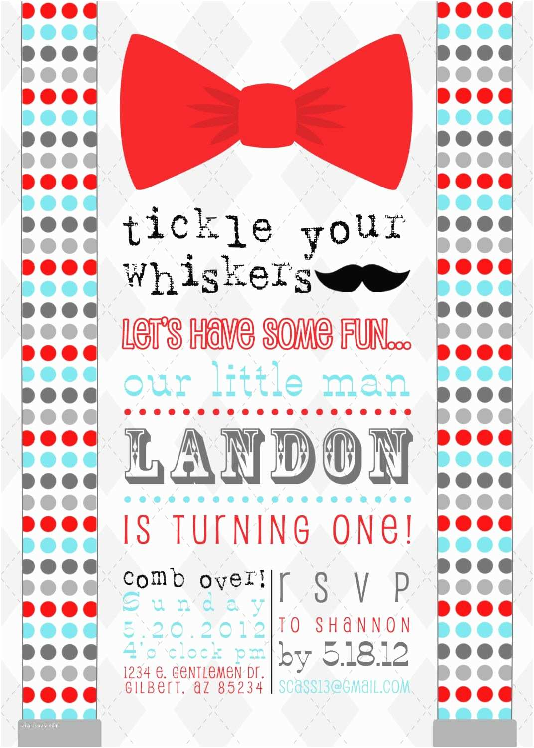 Mustache And Bow Tie Baby Shower Invitations Little Man Mustache Bow Tie Printable Birthday