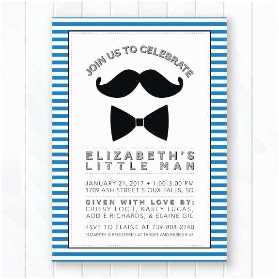 Mustache And Bow Tie  Shower Invitations Mustache And Bow Tie  Shower Invitation Retro