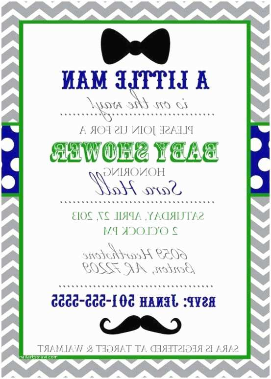 Mustache And Bow Tie Baby  Invitations Mustache And Bow Tie Baby