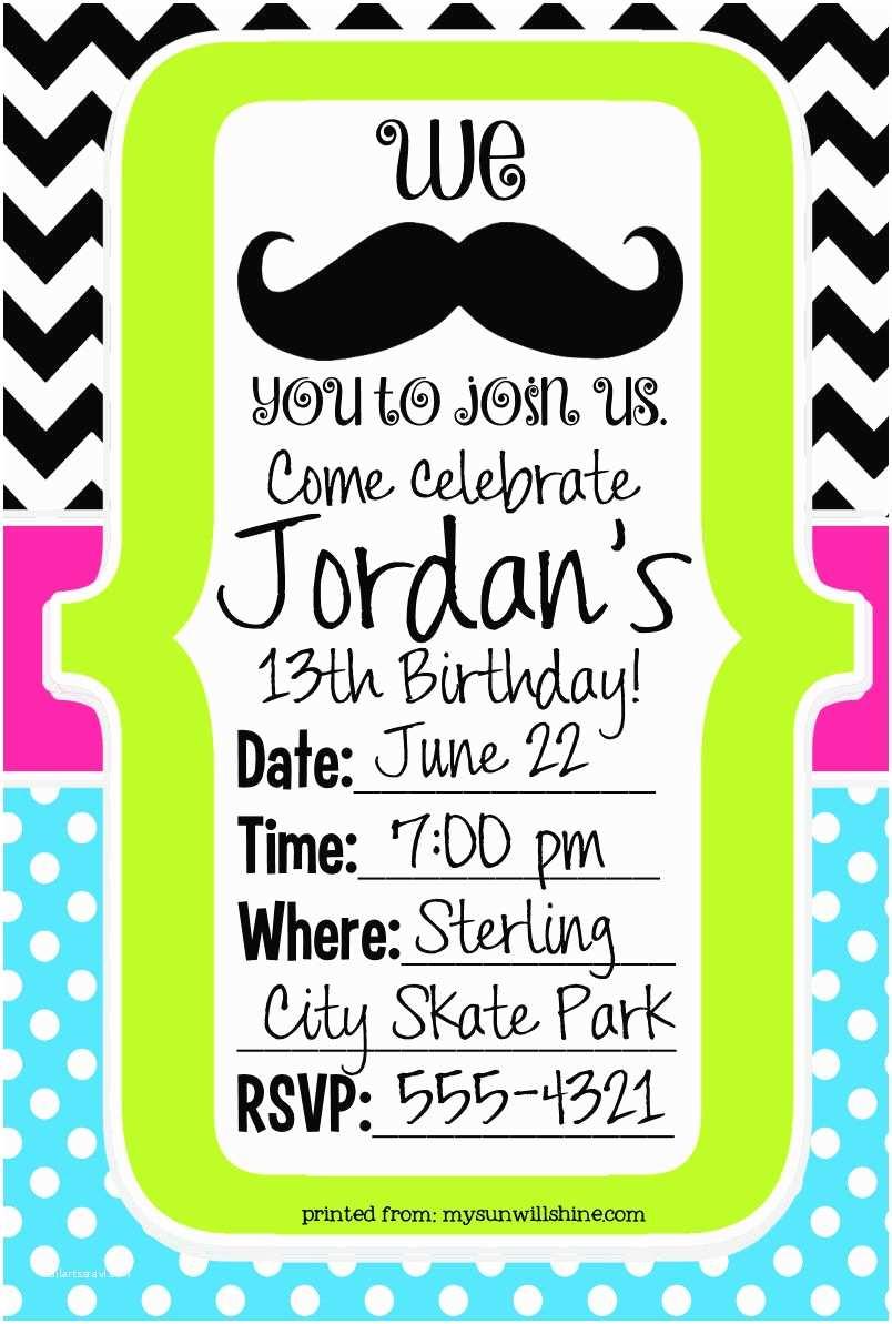 Mustache Birthday Invitations 40th Birthday Ideas Mustache Birthday Invitation Template
