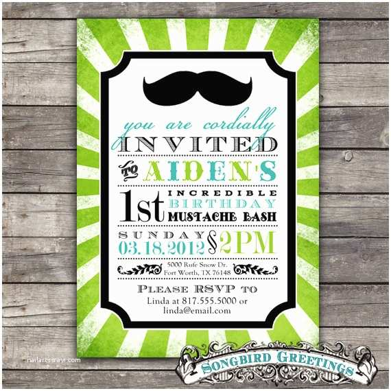 Mustache Birthday Invitations Free Printable Mustache Invitations