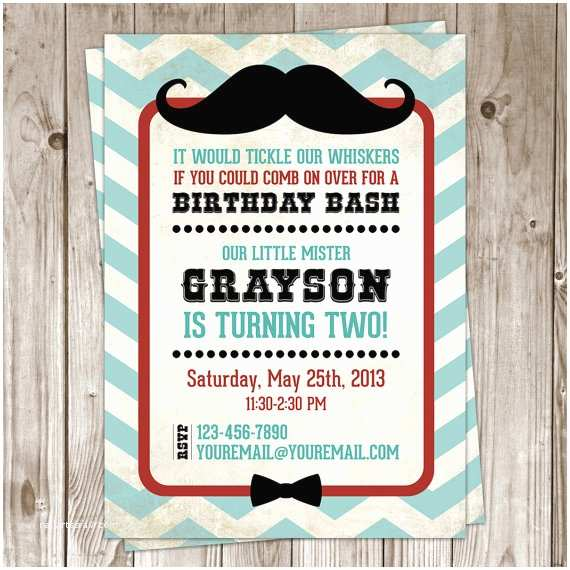 Mustache Birthday Invitations Items Similar to Little Man Mustache Birthday Invitation