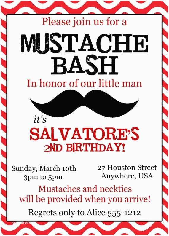 Mustache Birthday Invitations Mustache Bash Birthday Invitation Little Man Mustache