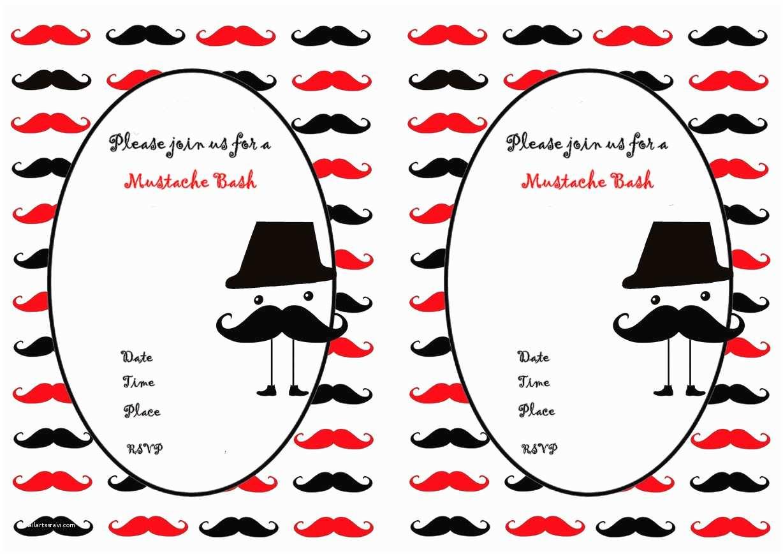 Mustache Birthday Invitations Mustache Birthday Invitations – Birthday Printable