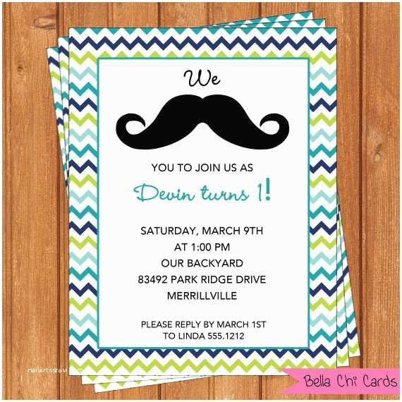 Mustache Birthday Invitations Mustache Invitation Kids Birthday Printable Editable