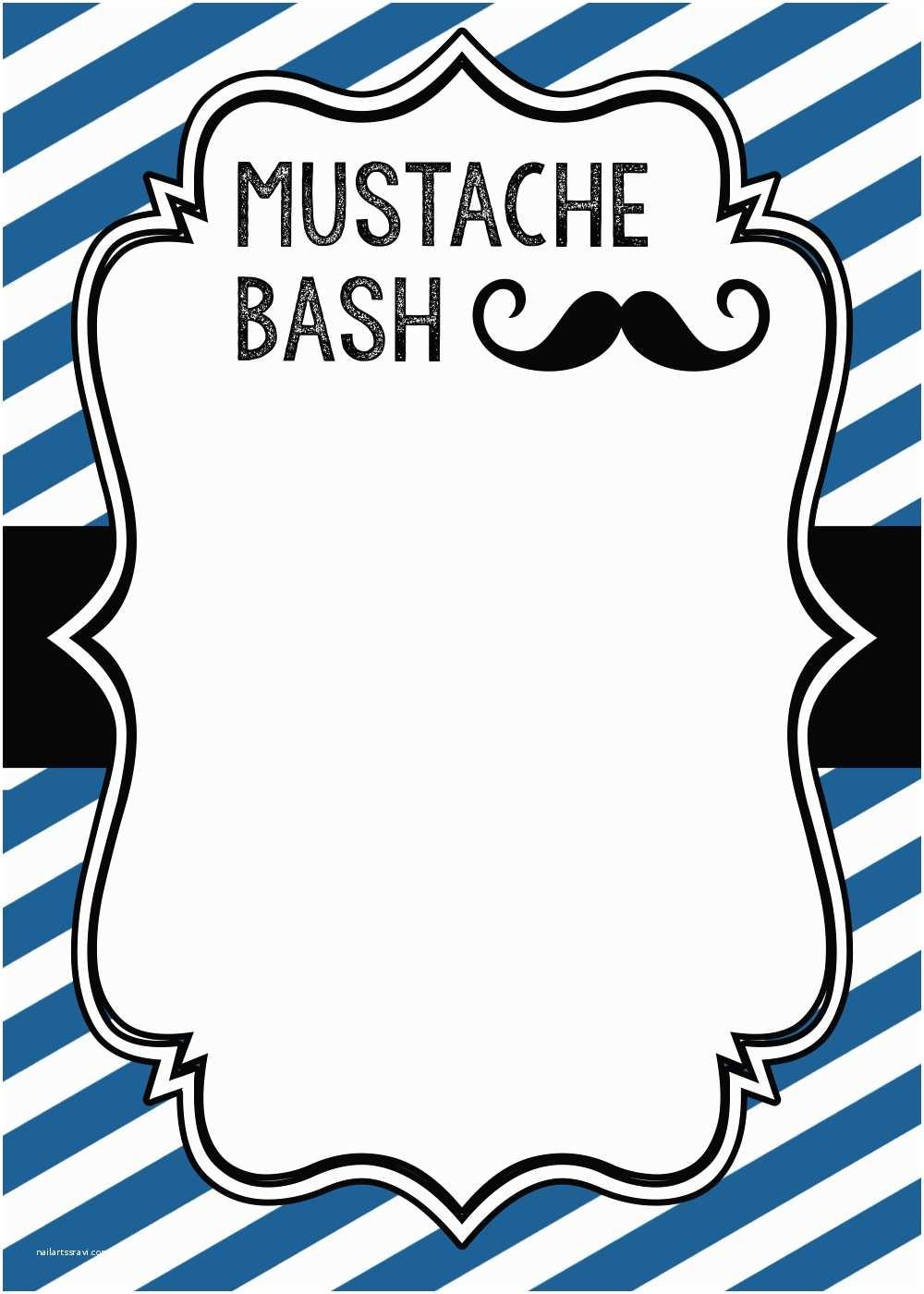 Mustache Birthday Invitations Mustache Party Baby Shower or Birthday Invite Paper