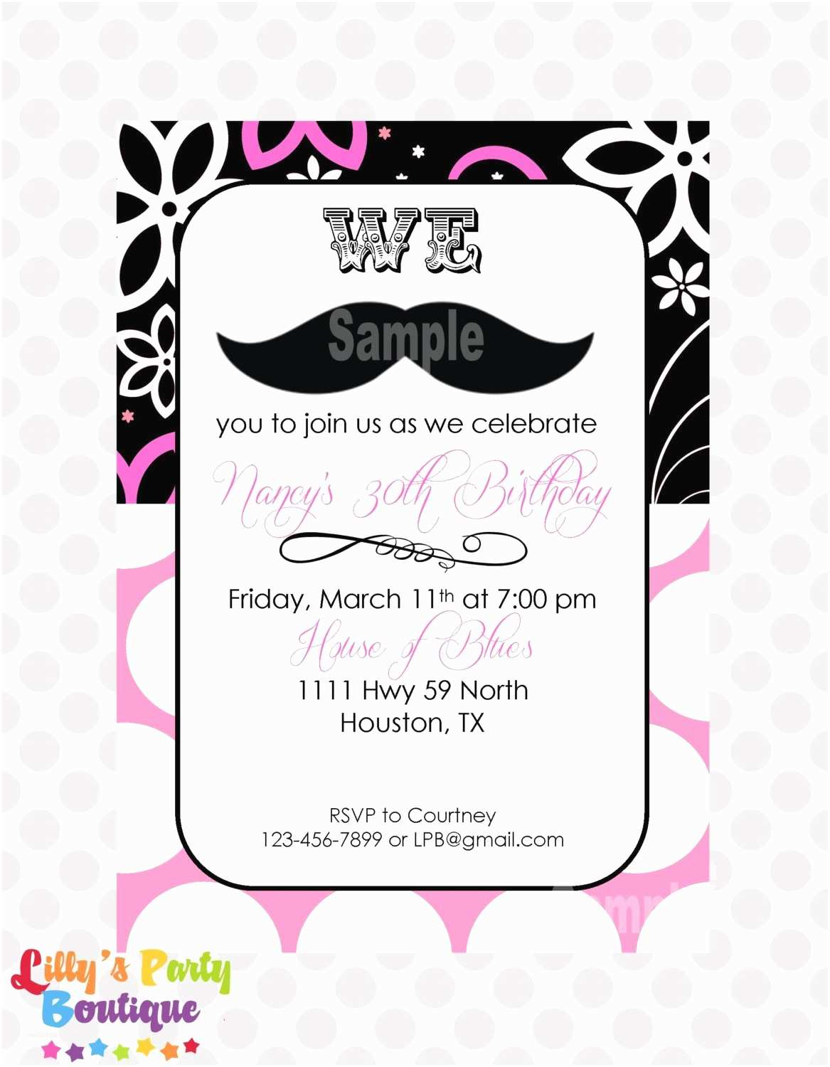 Mustache Birthday Invitations Unavailable Listing On Etsy