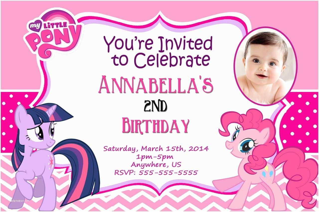 My Little Pony Birthday Invitations Free Printable My Little Pony Birthday Invitations