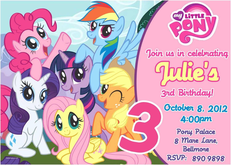 My Little Pony Birthday Invitations My Little Pony Birthday Party Invitations