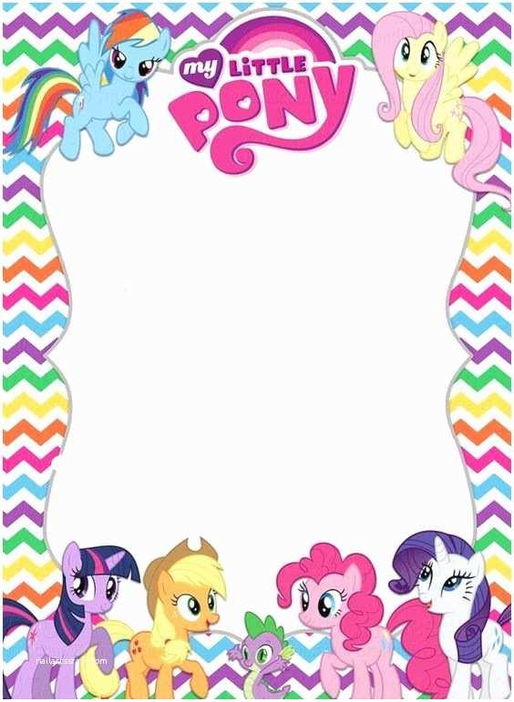 My Little Pony Birthday Invitations My Little Pony Invitation Template