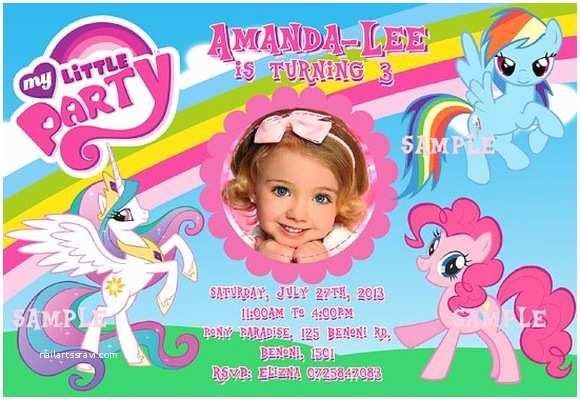 My Little Pony Birthday Invitations My Little Pony Invitations