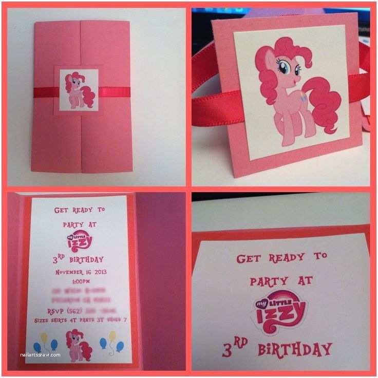 My Little Pony Birthday Invitations Pinkie Pie Invitation My Little Pony Invitation